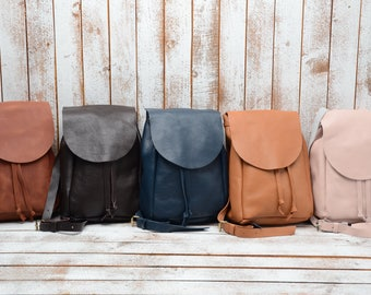 Leather Backpack Leather-Backpack  Backpack  Rucksack  HandMade LEATHER BACKPACK  Zaino Laptop Backpack  - Women Backpack Leather BackPack