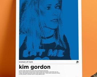 A3 Kim Gordon Women of Rock Poster