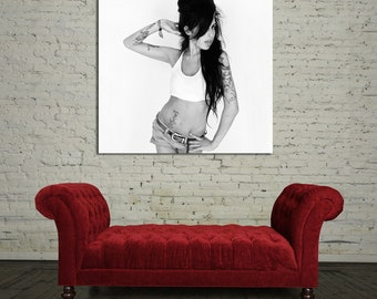 35bw Poster Wall Mural Amy Winehouse Canvas & Stretcher Bars