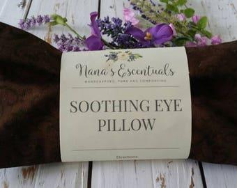 FREE SHIP-Aromatherapy- Cotton Cover-Flax Seed-Lemon/Cinnamon/Eucalyptus/Rosemary-Nature's Shield NOW Essential Oil -Eye Pillow