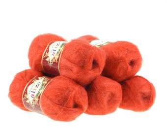 5 x 50 g knitting wool of ALIZE KID-ROYAL #352 Red