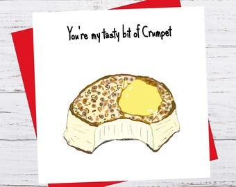 Love Handles - You're my tasty bit of crumpet - Valentine's Day Card - romance birthday greeting funny