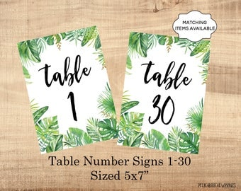 Table marker | Etsy