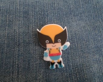 Handmade Cartoon Wolverine Boy Comic Book Super Hero Pin Badge