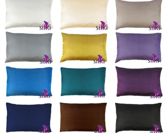 CHOOSE YOUR COLOR: 100% Pure Mulberry Silk Pillowcase 19 momme Queen Hair & Facial Beauty Hypoallergenic with Hidden Zipper