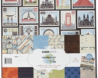 Kaisercraft Wanderlust Paper Pack With Bonus Sticker Sheet
