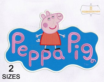 Pretty Cool Peppa Pig Embroidery Design | 4x4 | 5x7 Hoop Embroidery Design | Peppa Pig Embroidery Design | Pig Embroidery Designs