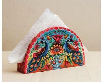 Wooden Painted Napkin Holder