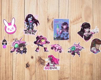 Overwatch D. Va stickers