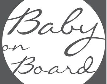 Baby on Board Decal - Circle Swish