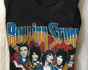 RARE Vintage 70s Rolling Stones Tour of America 1978 T Shirt Size XS Small Rock Concert