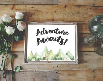 Adventure Awaits Printable