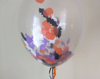 Halloween Confetti Balloons - Party Decorations - Die Cut