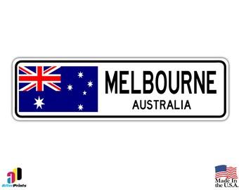 """Melbourne Aluminum Street 13.5"""" x 4"""" Sign"""