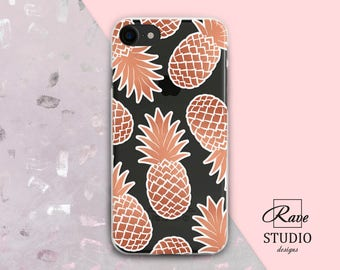 rose gold tropical pineapple phone case clear case iphone case silicone iphone 7 silicone iphone 6 case clear,iphone 7 case iphone 6 case