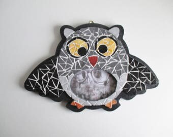 """""""OWL"""" mosaic picture frame"""