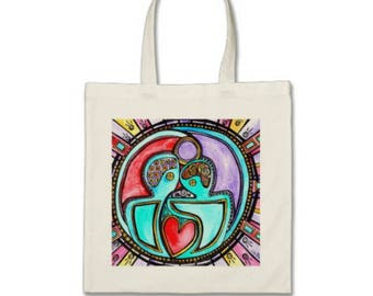 Man Mind Woman Mind Original Art Tote Bag