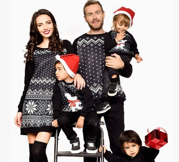 Winter Family Outfit Matching Clothing Set
