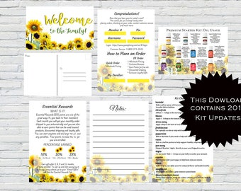 Essential Oil New Member Kits, Welcome Kits Printable, Essential Oils, New Member Oil Resources, YL Welcome Kit, Sunflower, Flower Welcome