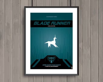 BLADE RUNNER, minimalist movie poster