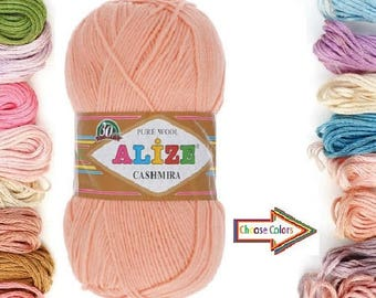 Alize Cashmira, Knitting yarn, 100% Wool yarn, Naturel Yarn, crochet yarn, soft yarn, winter yarn, children yarn, sweater, hat, turkish yarn