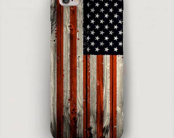American Flag iPhone 6 Case, Patriotic iPhone 7 Plus Case, USA iPhone 5 Case, Wooden Phone Case iPhone 4 Case, Phone Cover, Case iPhone Flag