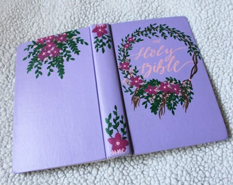 Thrifted Lilac Floral Wreath Bible