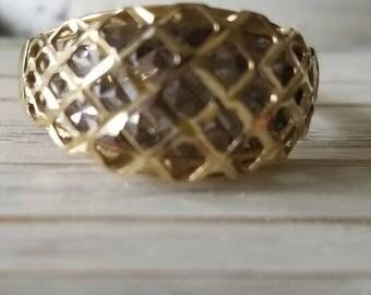 14K Two-Toned Three-Dimensional Fashion Ring