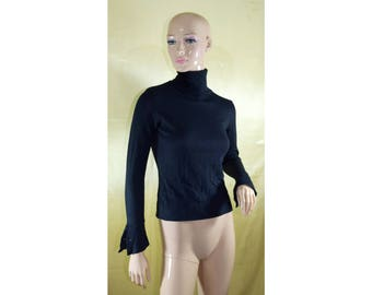Vintage REFLETS women turtleneck sweater pullover blouse wool and cashmere Made in Italy