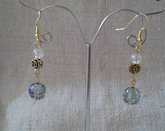 """Earrings """"Pearl facet and reflection"""""""