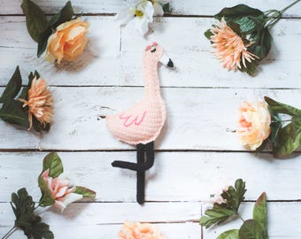 PDF Crochet Pattern for Fiona the Flamingo