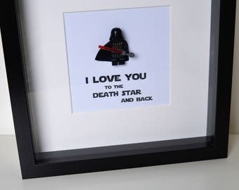 Shadow Box Frame//Star Wars//Darth Vader//Minifigures//Personalise//Geek//Love//Gift//Father//Daddy//Fathers Day//Birthday//Mothers Day