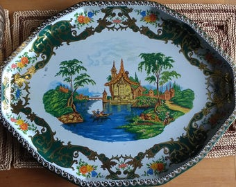 Vintage Daher Decorated Ware serving tray, serving tray, vintage tray