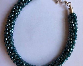 Kumihimo Bracelet: Turquoise