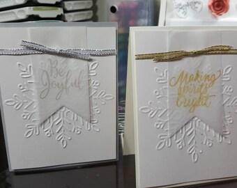 Embossed Snowflake Christmas Greeting Card