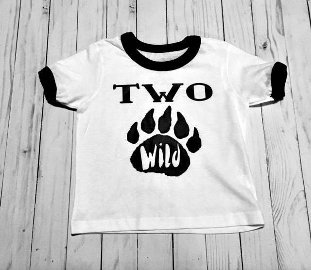Birthday Shirt 2nd Two Wild Baseball Raglan 3 4 T