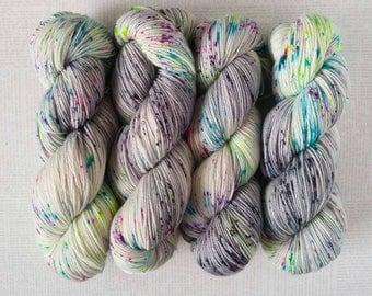 DINGLEDOP - Hand Dyed Yarn – Fingering Weight Sock Yarn - Superwash Merino Nylon