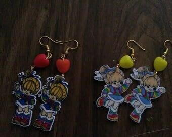 Rainbow brite earrings