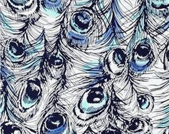 Blue PATCHWORK DEARSTELLADESIGN PEACOCK fabric