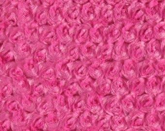 MINKY Cuddle ROSEBUD pink floral roses in relief