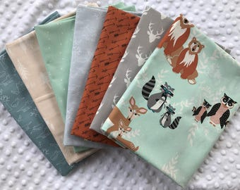 LOT 7 coupons patchwork collection HELLO BEAR fabric