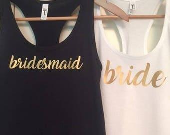 Bridal Party Tank Tops - Bachelorette Party Shirts - Bridal Party Shirts - Bride and Bridesmaid Shirts - Bachelorette Party Tank Tops