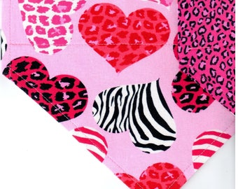 Wild at Heart | Valentines Day Dog Bandana | Dog Bandana | Puppy Bandana | Pet Bandana | Over the Collar Bandana
