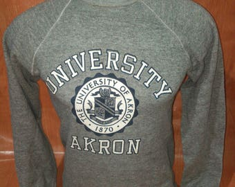 Vintage Akron University Sweatshirts Vintage Sweatshirts Poly Cotton Made in USA