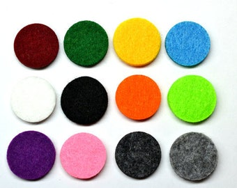 Reusable Diffuser Felt Pads for 30mm Essential Oil Diffuser Necklaces/Bracelets/Bangles/ Aromatherapy