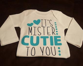 Mr. Cutie, Super Cute Onesie - Makes A Great Shower Gift!