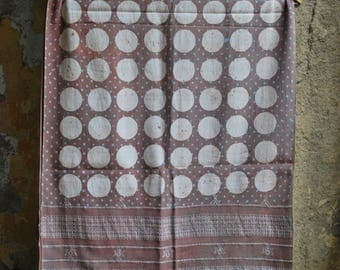 Batik Handwoven Organic Cotton Stole made , Natural dyes