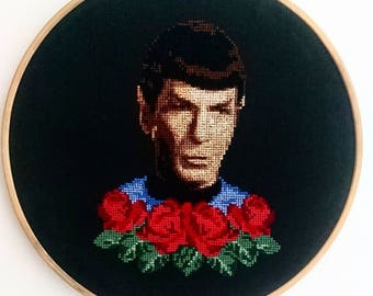 Spock Cross Stitch Pattern - Instant download