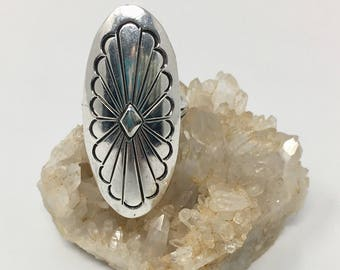 Signed Navajo Sterling Ring