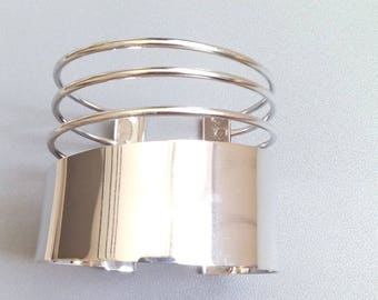 Medium silver 58mm Cuff Bracelet